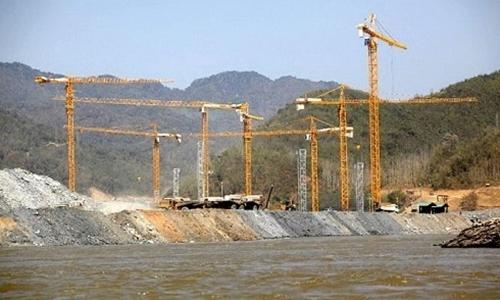 Đập Xayaburi của Lào được xây tại dòng chính sông Mekong. Ảnh: AFP.