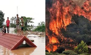 Nhiều thảm họa tự nhiên xảy ra cùng ngày trên thế giới
