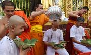 Lễ cạo đầu đi tu của đội bóng nhí Thái Lan