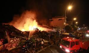 1.000 m2 chợ tại Hưng Yên cháy rụi trong đêm