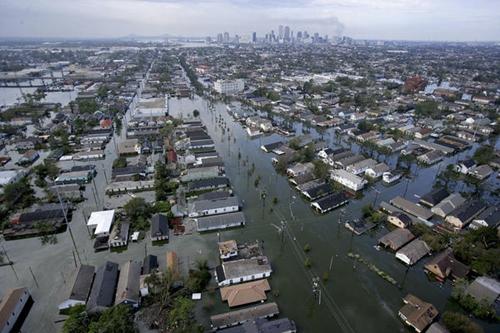 New Orleans chìm trong biển nước ngày 30/8/2015. Ảnh: AFP.