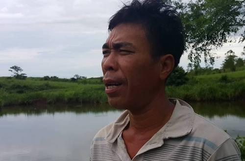 Ông Hoàng Công Quế kể lại. Ảnh: Nguyễn Hải.