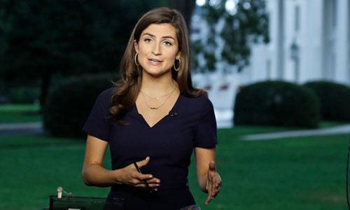 Kaitlan Collins, phóng viên CNN tại Nhà Trắng trong một bản tin hôm 25/7. Ảnh: CNN.