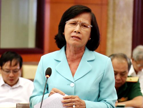 Nguyên chủ tịch HĐND TP HCM Phạm Phương Thảo phát biểu tại hội thảo. Ảnh: Thiên Ngôn.