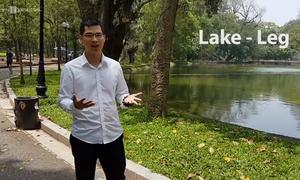 Phân biệt cách phát âm 'lake' và 'leg'