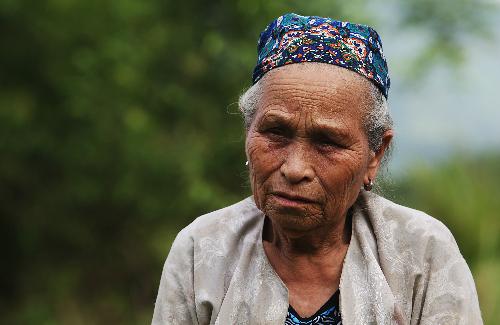 Bà Nhận chỉ đặt chân đến Ba Đình sau 8 năm làm công dân thủ đô. Ảnh: Ngọc Thành.