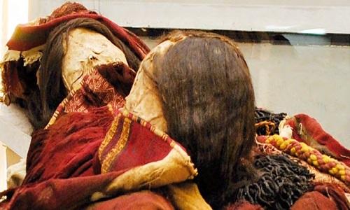 Xác ướp hơn 500 năm của thiếu nữ Inca bị hiến tế ởCerro Esmeralda. Ảnh: Science Alert.