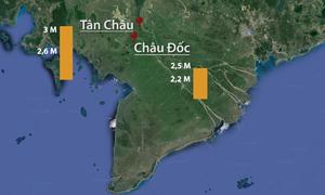 Lũ ĐBSCL tăng mạnh do vỡ đập thủy điện Lào và triều cường