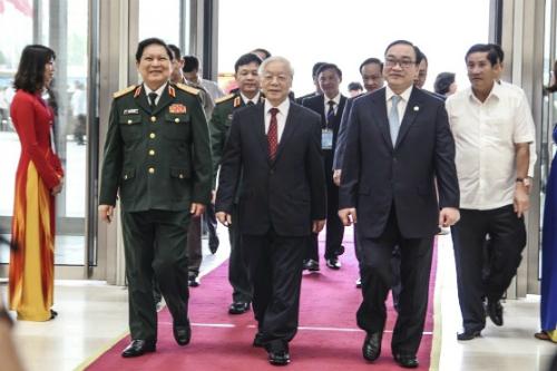 Tổng bí thư Nguyễn Phú Trọng đến dự lễ kỷ niệm. Ảnh: VGP