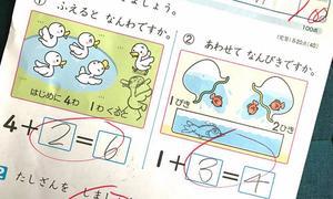 Làm phép tính sai, học sinh Nhật Bản vẫn đạt điểm tuyệt đối