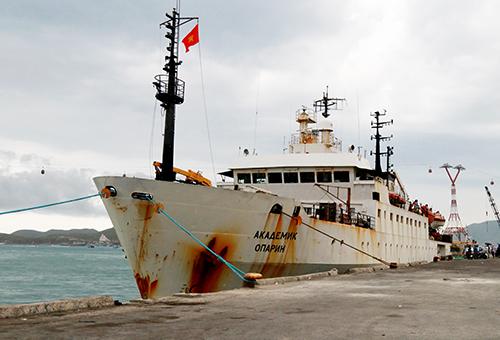 Nga đưa tàu Viện sĩ Oparin đến Việt Nam nghiên cứu biển