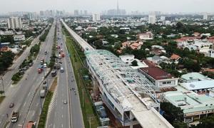 Metro số 1 của Sài Gòn đã lắp xong 5 nhà ga trên cao