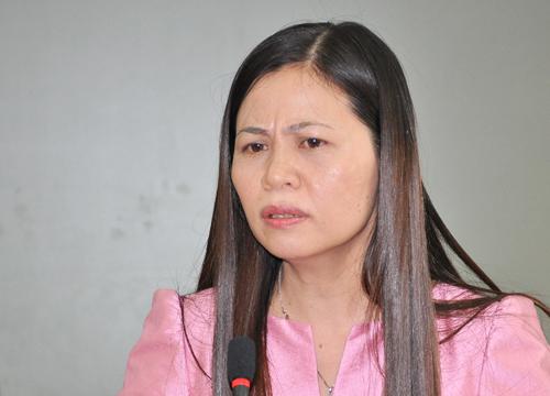 Giáo viên Trương Thị Thu, trường THPT Nguyễn Bỉnh Khiêm, Hà Nội. Ảnh: Viết Tuân.