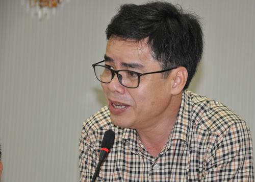 PGSNguyễn Thành Nhân phó hiệu trưởng Đại học Sư phạm Huế. Ảnh: Viết Tuân.