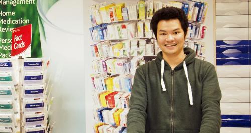 Nguyễn Anh Khoa hài lòng vì quyết định chọn học dược tại UTAS.