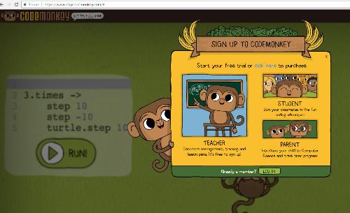 Phần mềm lập trình Code Monkey tạo hứng thú cho trẻ với pháp vừa học vừa chơi.