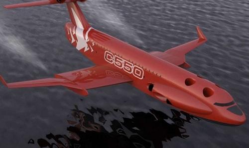 Môp hình thiết kế mẫu thủy phi cơ Ekranoplan mới của Nga. Ảnh: Defense Blog.