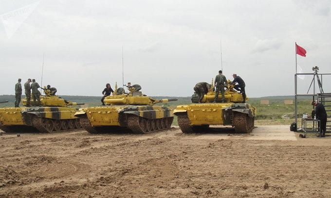 Màn trình diễn của đoàn Việt Nam trong giải đua xe tăng quốc tế