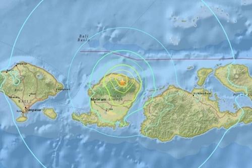 Vị trí xảy ra động đất. Đồ họa: USGS.