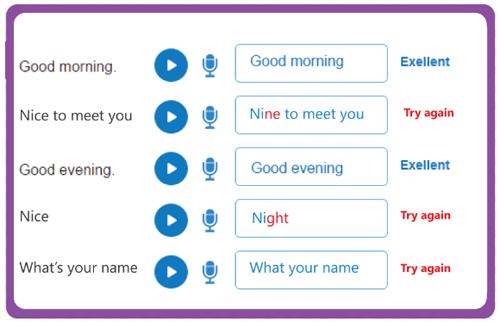 Công nghệ nhận diện phát âm giúp trẻ chuẩn phát âm ngay từ đầu.