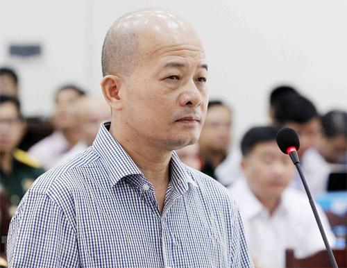 Bị cáo Đinh Ngọc Hệ tại phiên tòa ngày 30/7. Ảnh: TTXVN