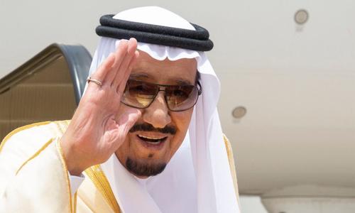 Vua Salman rời sân bay ở Riyadh tới Jeddah hồi cuối tháng 4/2018. Ảnh: Arab News.