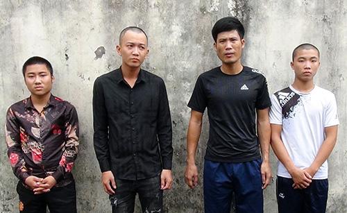 Băng bảo kê có súngở đảo Phú Quốc bị cảnh sát bắt giữ. Ảnh: Lan Vy