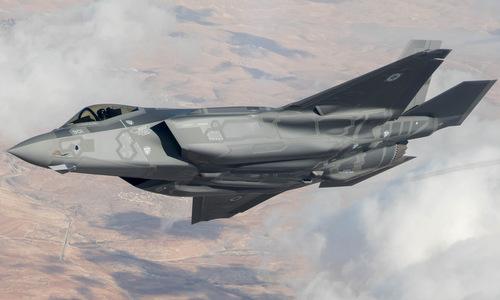 Tiêm kích F-35I bay thử nghiệm trên bầu trời Israel hồi đầu năm nay. Ảnh: IAF.