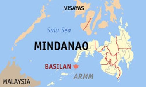 Đảo Basilan nằm gần cực nam của Philippines. Đồ họa: Wikipedia.