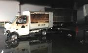 8 ôtô tải trong cửa hàng mua bán xe bị cháy