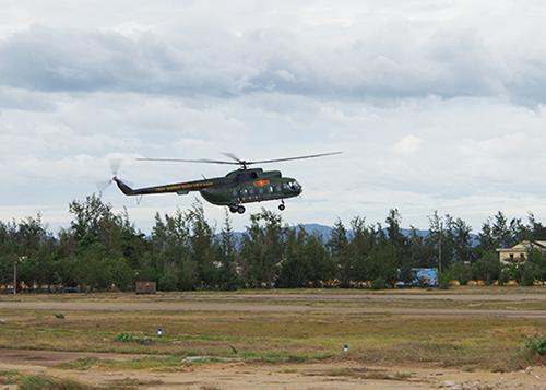 Máy bay trực thăng của Trung đoàn 915. Ảnh: VGP