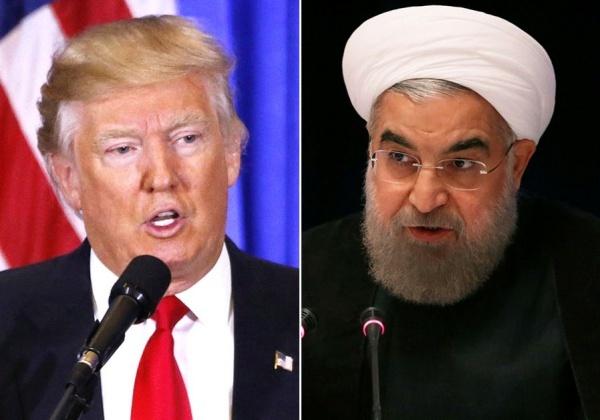 Tổng thống Mỹ Donald Trump và người đồng cấp Iran Rouhani