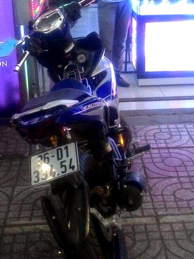 Xe máy của nạn nhân trước khi bị cướp. Ảnh:Gia đình cung cấp.