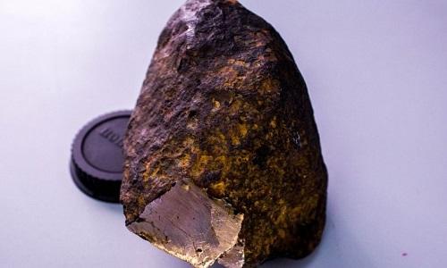 Uakitite được phát hiện trong mộtthiên thạch rơi xuống Siberia, Nga. Ảnh:Mirror.