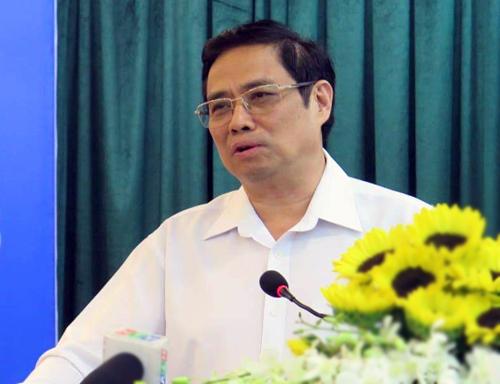 Trưởng ban Tổ chức Trung ương Phạm Minh Chính phát biểu tại hội nghị. Ảnh: Thiên Ngôn.
