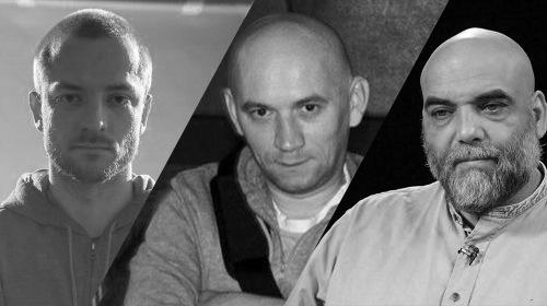 Chân dung ba nhà báo Nga thiệt mạng tại Cộng hòa Trung Phi. Ảnh: Twitter.