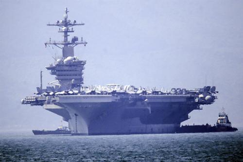 Tàu sân bay Mỹ USS Carl Vinson thăm Đà Nẵng hồi tháng 3/2018. Ảnh: Nguyễn Đông.