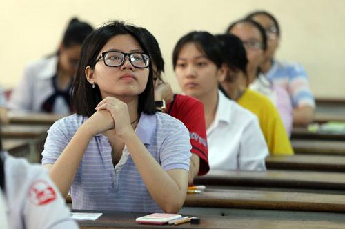 Học sinh dự thi THPT quốc gia năm 2018 tại TP HCM. Ảnh: Quỳnh Trần.