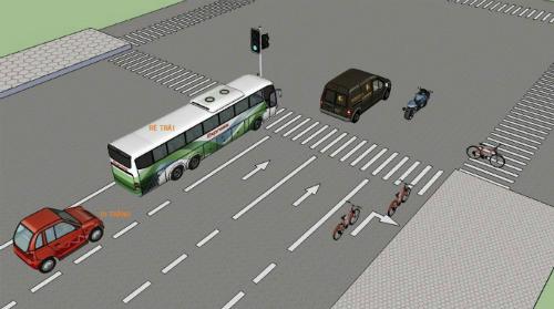 Dừng xe máy chờ đèn giao thông để rẽ trái như thế nào để đúng luật và đảm bảo an toàn?