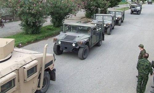 Xe Humvee bị quân đội Nga thu giữ sau cuộc chiến Nam Ossetia. Ảnh: Pinterest.