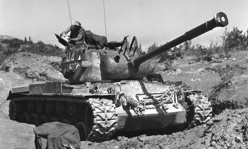 Xe tăng M46 Patton của Mỹ trong Chiến tranh Triều Tiên. Ảnh: J.W. Hayes.