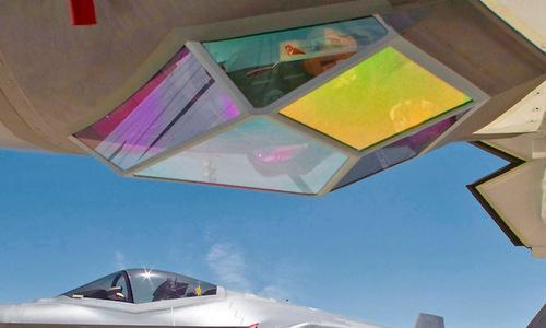 Cụm EOTS của tiêm kích tàng hình F-35. Ảnh: Foxtrot Alpha.