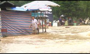 Mưa to gây lũ lụt và sạt ở ở Cao Bằng