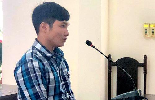 Bị cáo Dương Đức Trí tại tòa.Ảnh: Trang Trang