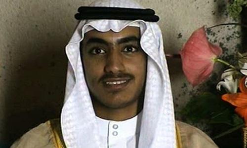 Hamza bin Laden, con trai út của trùm khủng bố Osama bin Laden. Ảnh: AP.