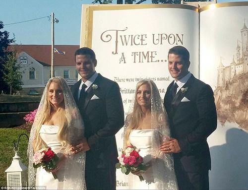 Đám cưới cổ tích của cặp chị em sinh đôi và anh em song sinh Mỹ - 1
