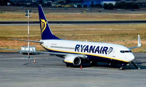 Một máy bay của hãngRyanair, Ireland. Ảnh: AFP.