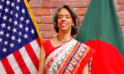 Đại sứ Mỹ tạiBangladeshMarcia Bernicat. Ảnh: Twitter.