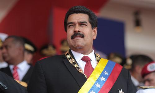 Tổng thốngVenezuelaNicolas Maduro trước thời điểm xảy ra vụ ám sát ở thủ đôCaracashôm 4/8. Ảnh: Twitter.