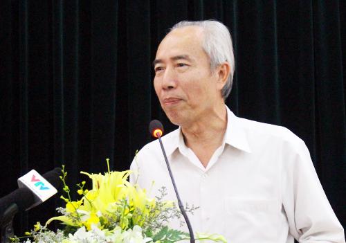 Ông Huỳnh Đảm, nguyên Chủ tịch Ủy ban Trung ương MTTQ Việt Nam. Ảnh: Minh Ngọc